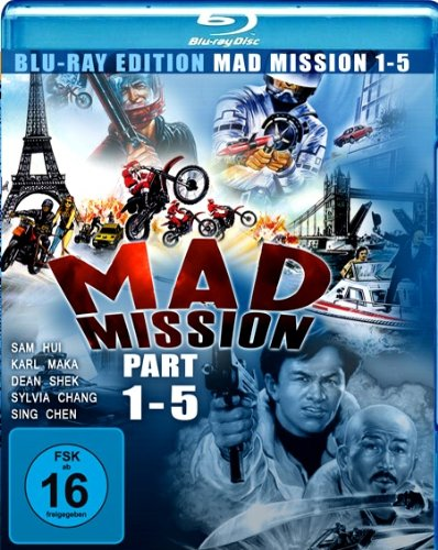 Mad Mission 1-5 [Blu-ray] [Import allemand]