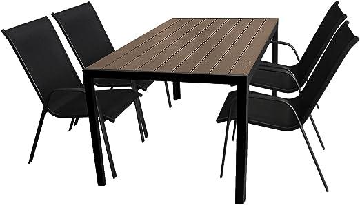 5 piezas. Jardín Terraza – Muebles de Jardín Conjunto de muebles ...