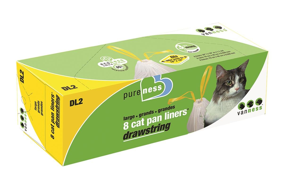Van Ness Plastics, Large Drawstring Cat Pan Liner, 8 ct: Amazon.com: Grocery & Gourmet Food