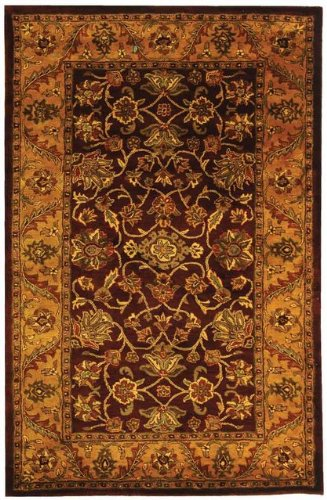 Safavieh Golden Jaipur 6' X 6' Hand Tufted Rug in Burgundy and Gold