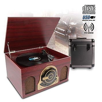 Retro record reproductor Tocadiscos CD USB altavoces de ...