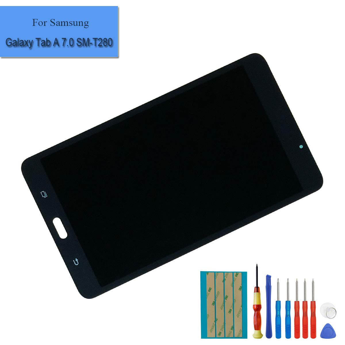 Black LCD Touch Screen Display Assembly Digitizer Compatible with Samsung Galaxy Tab A 7.0 2016 WiFi SM-T280 + Tools