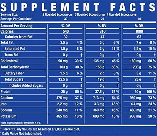 Amazon.com: GAINER XS High Protein Weight Gainer Powder - Chocolate Milk: Health & Personal Care