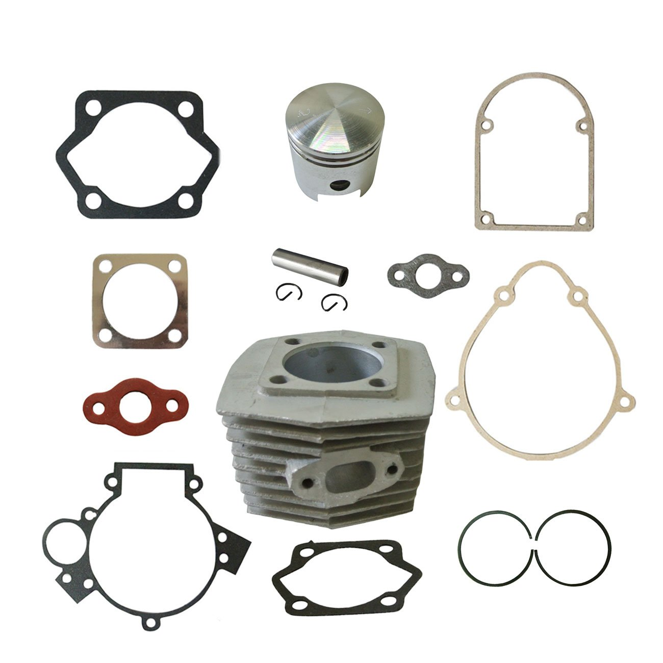 New Cylinder/&Piston/&Pin Clips Wrist/&Gasket Set Fit 80cc Motorized Bicycle Bike Motor JL JIANGLI LEGEND
