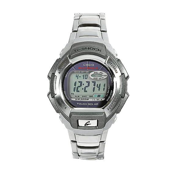 Casio GW-800D-1VER - Reloj Digital de Cuarzo para Hombre con Correa de Acero Inoxidable, Color Plateado: Amazon.es: Relojes