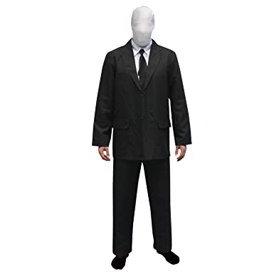 Morphsuits Menu0027s Slenderman Costume Adult Black and White Small (5u002710u0026quot;  sc 1 st  Amazon.com & Amazon.com: Morphsuits Menu0027s Adult Slenderman Costume: Clothing