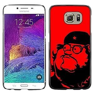 LASTONE PHONE CASE / Carcasa Funda Prima Delgada SLIM Casa Carcasa Funda Case Bandera Cover Armor Shell para Samsung Galaxy S6 SM-G920 / Leader Communism Red Star