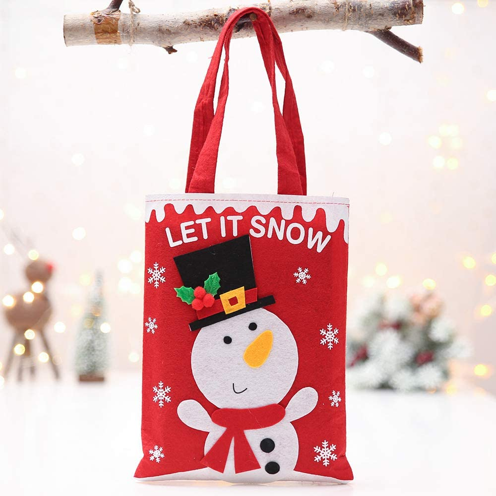 Nochebuena Decoración Bolsa de Regalo para niños de Dibujos Animados Candy Apple Tote Bag 27 * Cm 2
