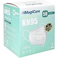 Cubrebocas KN95 Certificado con 50 Piezas, Tapabocas con5 Capas de Protección, Ajustador Nasal, Individualmente…