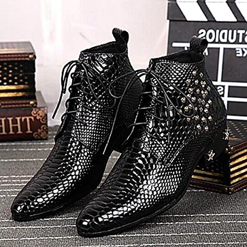 Black In Vacchetta Da Snake Manual Pure Moda Lines Amir Neri Limited Uomo 2017 Office Stivali Pelle Di Scarpe Wedding Party FnZWSAA