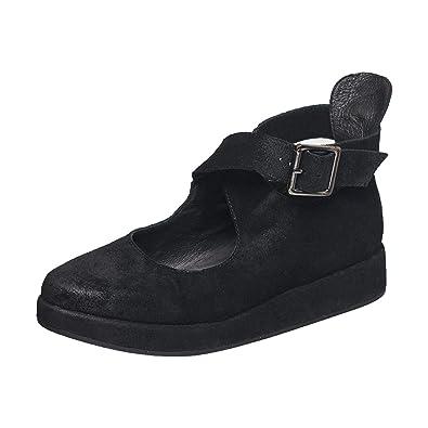 Antelope Womens 108 Leather Scalloped Ballet Shoe