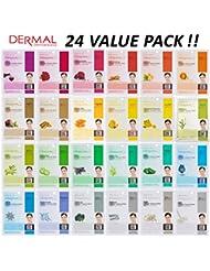 DERMAL Collagen Essence Full Face Facial Mask Sheet...