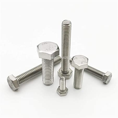 M8 x 12 Stainless Steel Hex Bolts Set Screws 8mm x 12mm Stainless Bolts DIN933