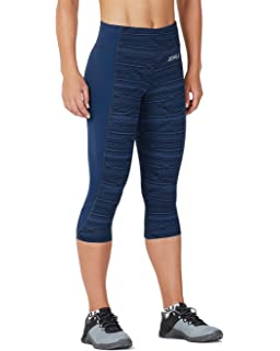 a0d3104749 Amazon.com: 2XU Women's Print Mid-Rise Compression 7/8 Tights: Clothing