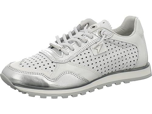 Cetti C-848 Lux - Zapatillas de Piel para Mujer Plata Blanco 37: Amazon.es: Zapatos y complementos