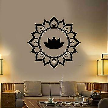 Lotus Pattern Decal Yoga Lotus Sticker Cute Flower ...