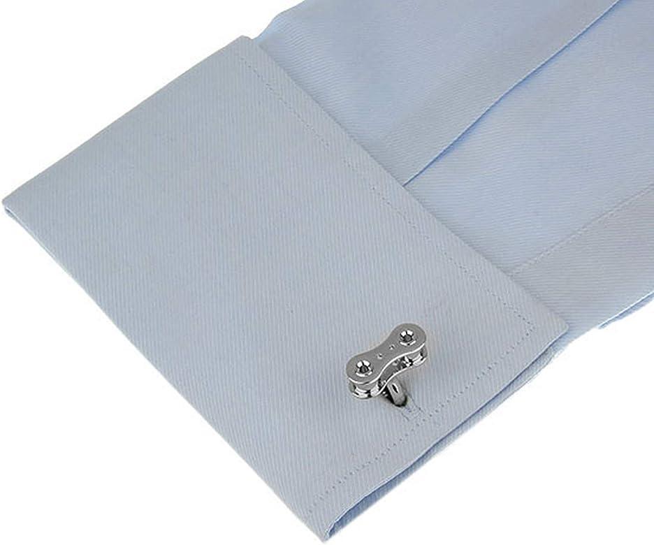 Beydodo Gemelos Camisa para Hombre Cobre Gemelos Hombre Gemelos Camisa Cadena Mecanica Gemelos para Camisa Plata: Amazon.es: Joyería