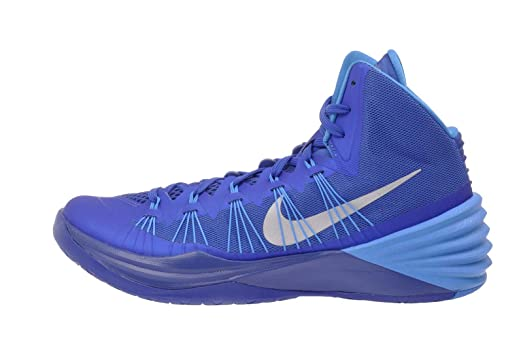 Nike Men's Hyperdunk 2013 TB, GAME ROYAL/METALLIC SILVER-BLUE HR, 10.5