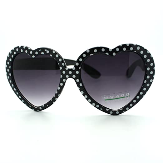 b5f2f751723f Amazon.com  Black Heart Love Sunglasses Cute Heart Shape Frame with ...