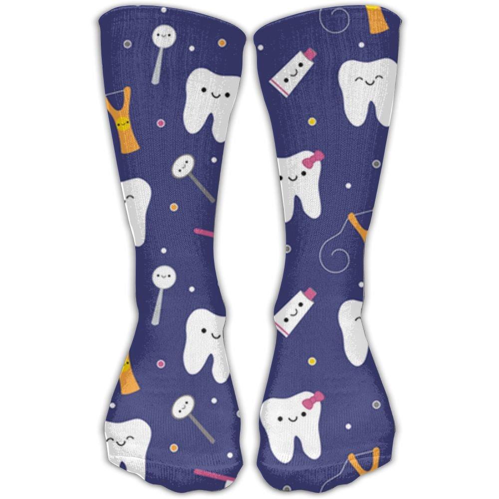 JIMLLL White Teeth Unisex Printing 30CM Leisure Comfortable Sports Socks jingling