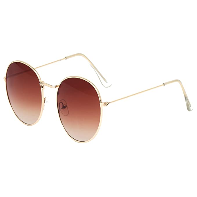 035115bb70 Image Unavailable. Image not available for. Colour  Vast Double Shaded  Shiny Silver Brown Round Unisex Sunglasses ...