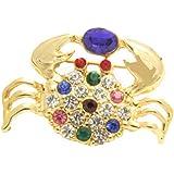 Cyllene Fantaisie - Broche Crabe multicolores