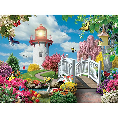 Bits and Pieces - 300 Large Piece Jigsaw Puzzle for Adults - Spring Light - 300 pc Flowers, Birds, Animals Jigsaw by Artist Alan Giana