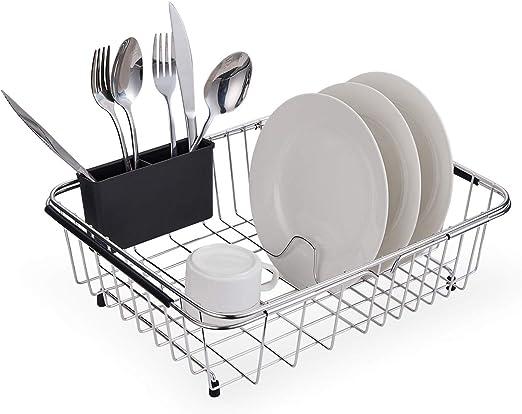 Amazon.  KESOL Expandable Dish Drying Rack, 304 Stainless