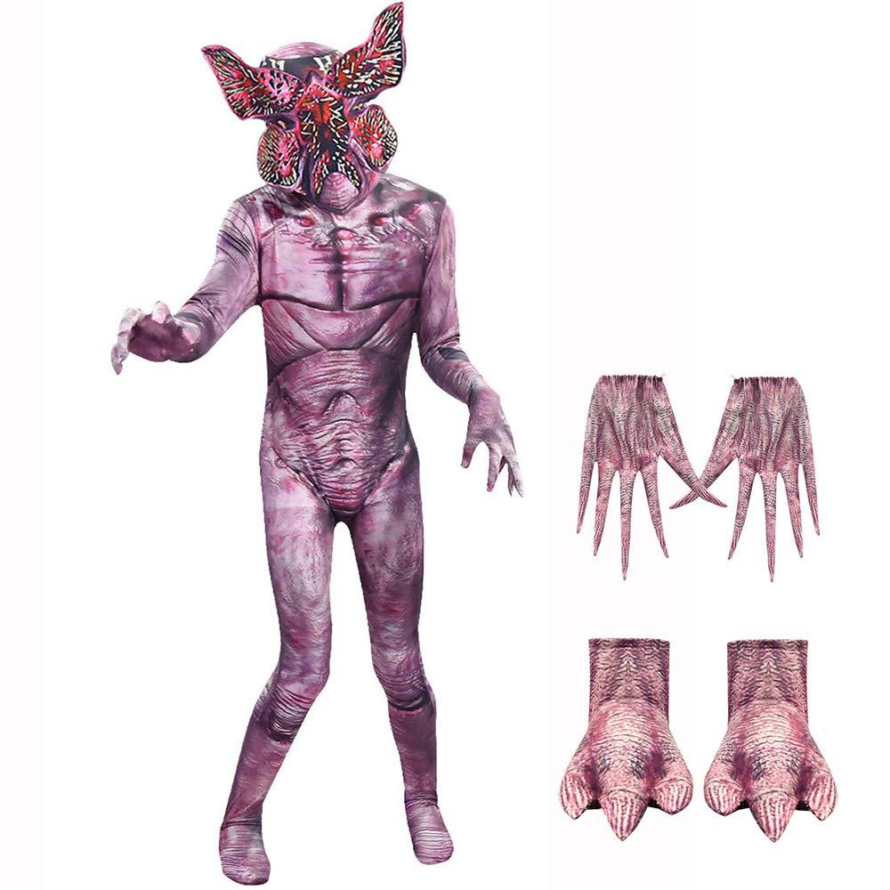 Danny Queen Halloween Bodysuits Demogorgon Onesies Impresi/ón Disfraces con Mascaras Gracioso Horror Cosplay Partido Accesorios para Adultos Ni/ños