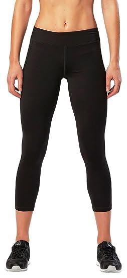 6e4420bd18 2XU Women's 7/8 Active Compression Tights, Black/Silver, X-Small
