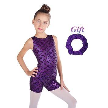 Hougood Filles Justaucorps de Gymnastique Ballet Justaucorps Danse Body Sans  Manches Hit Color Couture Costumes de 6d70c59b3fd