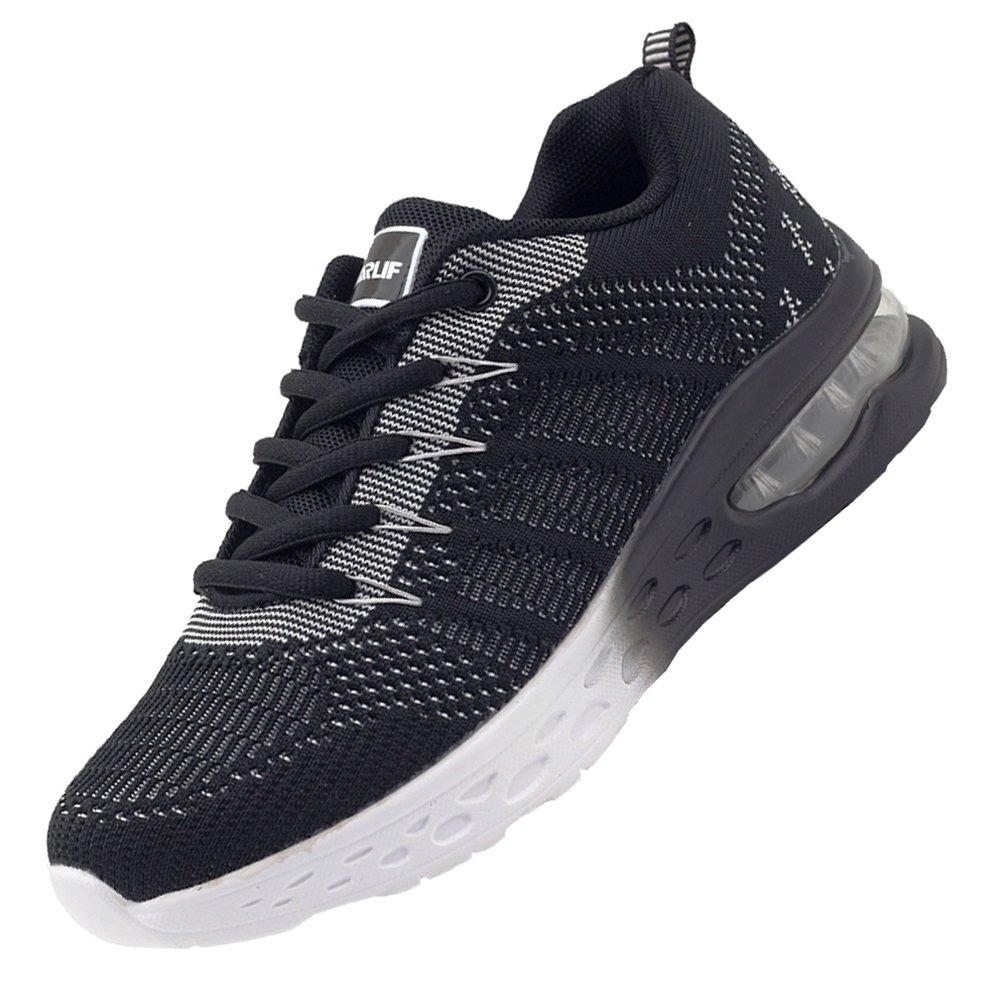 JARLIF Women's Athletic Running Sneakers Air Fitness Sport Workout Gym Tennis Walking Shoes Black 8 B(M) US