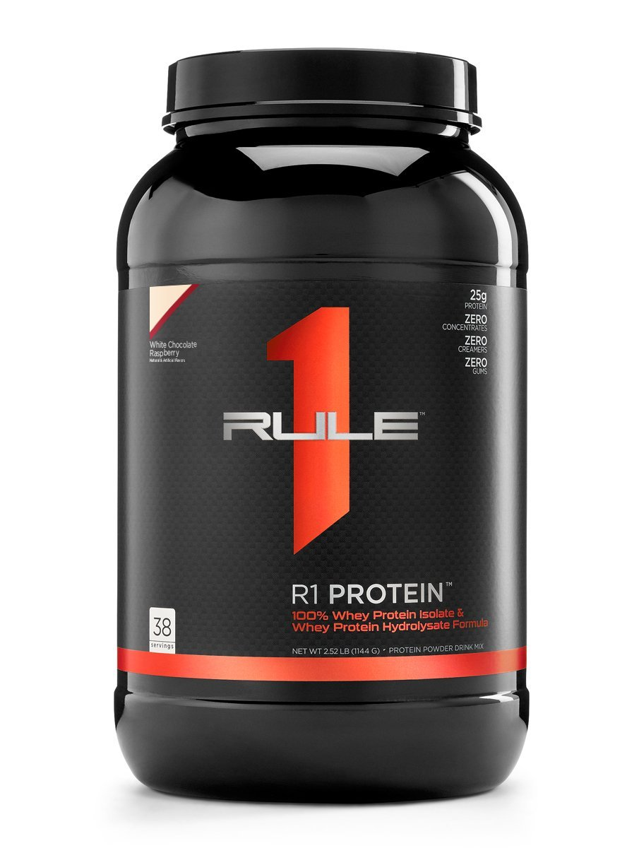 R1 Protein Whey Isolate/Hydrolysate, Rule 1 Proteins (38 Servings, White Chocolate Raspberry) by Rule 1 Proteins