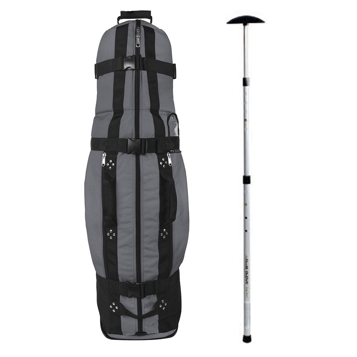 Club Glove Last Bag Collegiate Golf Travel Cover w/ Free Stiff Arm (Charcoal)