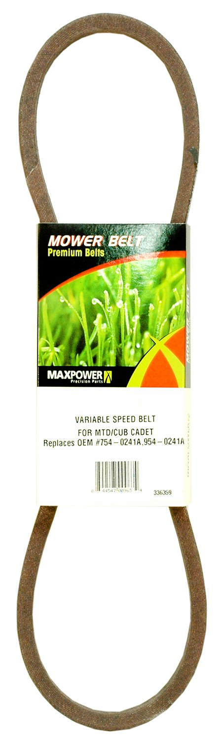 Maxpower 336359 Mower Belt for MTD, Cub Cadet and Troy-Bilt Models 754-0241A, 954-0241A Rotary Corporation