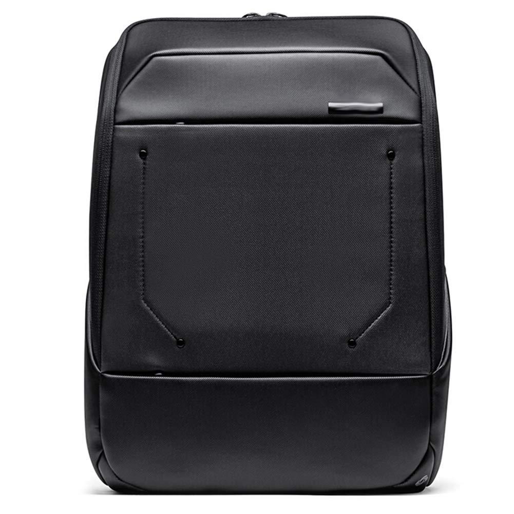 メンズバックパックビジネスバッグレジャーバッグスクールバッグラップトップバッグトラベルバッグ、マルチレイヤー大容量ユニセックス6種類オプション30 * 12 * 40.5cm CONGMING-bao (Color : 黒, Size : Large) B07KNQJG7S