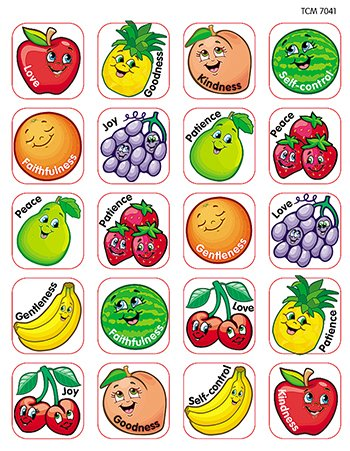 * STICKERS FRUIT OF THE -