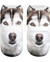 3D Print Socks Dog Animal Women Socks Casual Socks Unisex Low Cut Ankle Socks