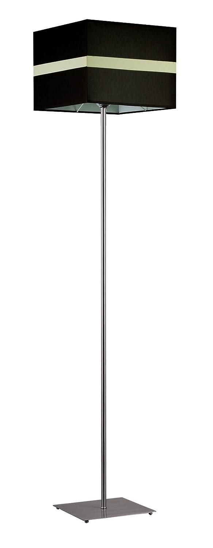 Bauhaus - Lámpara de pie (cromo, marrón, color blanco ...