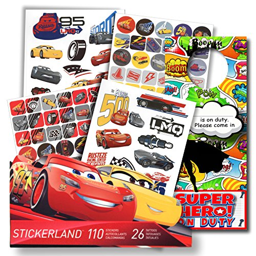 Disney Cars 3 Fun Set Cars 3 Stickers & Disney Cars 3 Tattoo