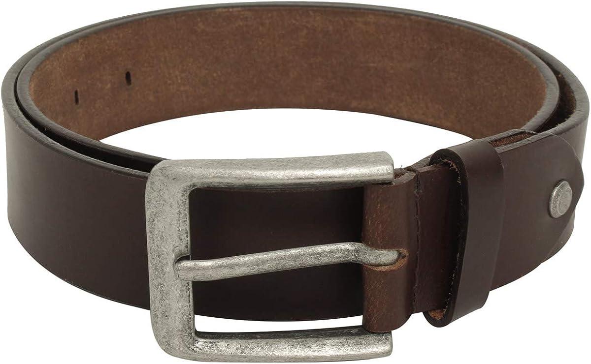 Cinturón de cuero marrón unisex