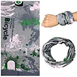 Gentle Meow 2 Pcs Sports Handband Magic Scarf Cycling Headband Multifunctional, Fun Bicycle