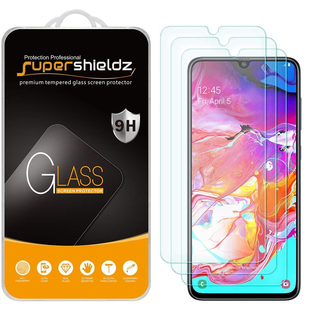 3 Vidrios Templados Samsung Galaxy A70 Marca Supershieldz