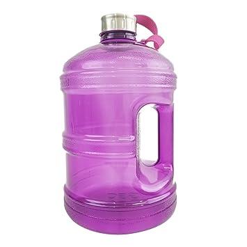 Amazon.com: Botella de agua de 1/2 galón o 1 galón sin BPA ...
