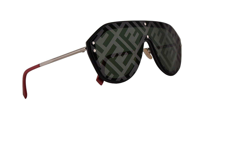1cb35a46dd Amazon.com  Fendi FFM0039 G S Sunglasses Black w Green Lens 99mm 807XR FF  M0039 G S  Clothing