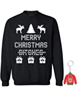 Awkwardstyles Merry Christmas Bitches Crewneck Xmas Sweatshirt + Key Chain