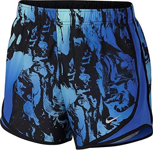 Nike Dri Women Fit Tempo Running Shorts (NIKE Women's Dry Tempo Running Short (Medium, Hyper Royal/Lime/Print))