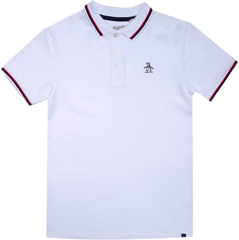 Penguin Niños Polo Camiseta Blanco Brillante Siglos 7 Años-15 Años ...