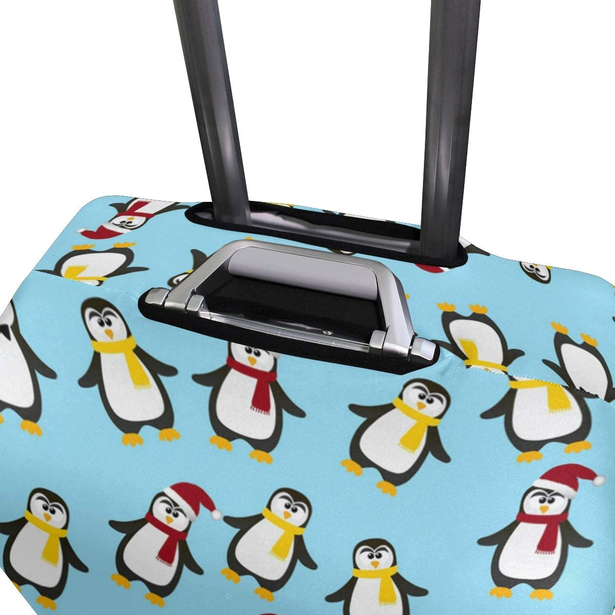 Cute Christmas Penguin Gift Travel Luggage Protector Case Suitcase Protector For Man/&Woman Fits 18-32 Inch Luggage