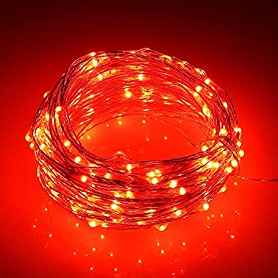 ER CHEN Remote Battery Operated 40ft 240 Led String Lights Silver Wire 8 Lighting Model LED Starry Light with 13 Key Remote Control For Christmas Wedding and Party
